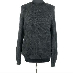 Lucky Brand Charcoal Thick Knit Crewneck Sweater